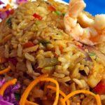 Speziell gebratener Reis mit Garnelen